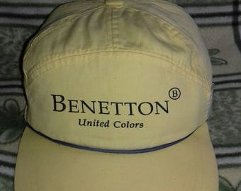 Rare vintage cap Benetton United Colors with rope style and adjuster style size M 60 cm
