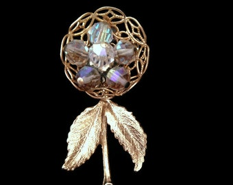 brooch, vintage brooch, flower brooch, gold brooch, brooche, brooches and pins, antique jewelry