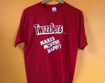 Twizzlers licorice candy shirt vintage 80s Large