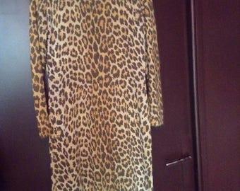Dress 1970 1980 vintage leopard leonard