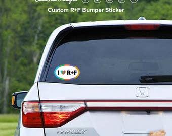 Oval Bumper Sticker Etsy - Custom oval car bumper magnets