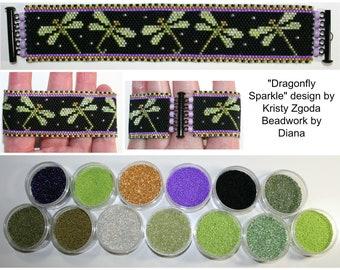 Dragonfly Sparkle by Kristy Zgoda beaded bracelet kit (pattern sold separately)
