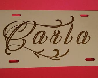 Personlized License Plate - Made to Order