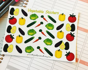 Vegetable Food Planner Stickers