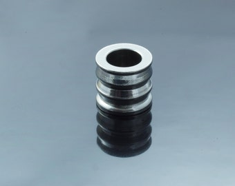 Stainless Steel Large Hole Column Beads.  9x10mm. Hole  6mm
