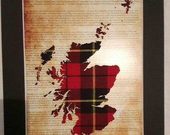 Scotland Map Tartan Picture On Declaration Of Arbroath Unique Scottish Gifts