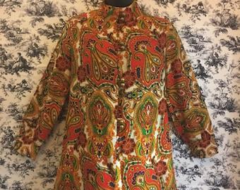 1960's mod dress, paisley print, retro look