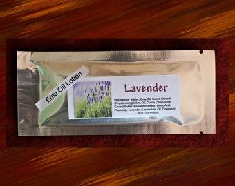 Emu Oil Lotion Sample Single Use - Lavender