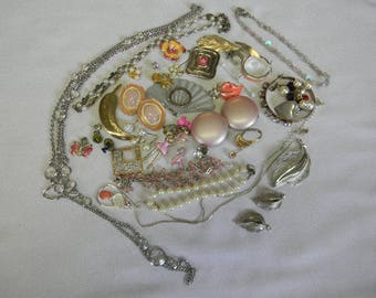 Vintage Destash Jewelry Lot Costume Jewelry Destash