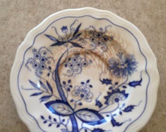 Oriental Onion Ironstone Saucer Made in japain