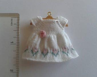 1/12th Scale Roses Dress Toddler Doll Knitting Pattern