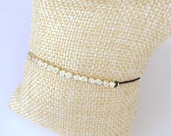 Dainty Sterling Silver Gold Plated Bracelet