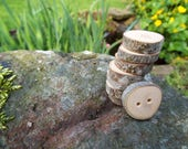 FOR ANNEMIEKE KOK ~ Rustic Buttons ~ Olive Wood ~ Chunky Wood Buttons ~ Wooden Buttons ~ Natural Buttons ~ Gift for Knitters