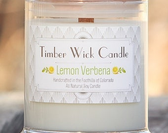 Lemon Verbena | 9-Ounce Soy Candle with Cedar Wick
