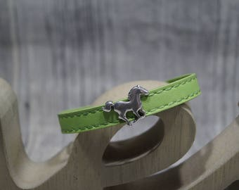 Leather strap horse