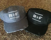Rodan And Fields Distressed Hat, R+F Embroidered Hat