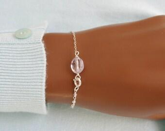 Amethyst Topaz delicate bracelet Sterling Silver 925