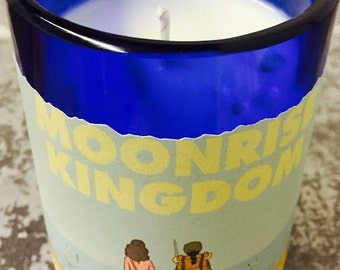 Moonrise Kingdom // Wine Bottle Candle // Pure Soy //Wes Anderson