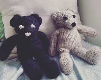 Hand-knit Teddy Bears