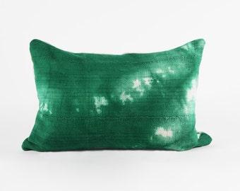 Pillow Cover, Green Mud Cloth, 18x12, 18x18, 20x20
