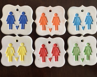 Ceramic LGBT Women's Ornament, LGBT Ornament