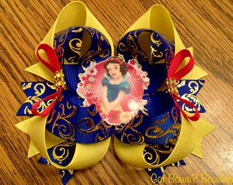 Snow White Themed Stacked Boutique Bow