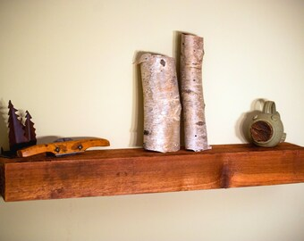 rustic wood shelf, floating shelf, farmhouse shelf