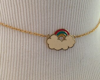 Rainbow necklace 1970s