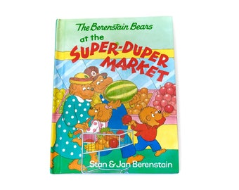 Vintage Berenstain Bears Super Duper Market Hardcover Book Berenstein Random House 1991 90s Original Kids Childrens Novel Mandela Effect