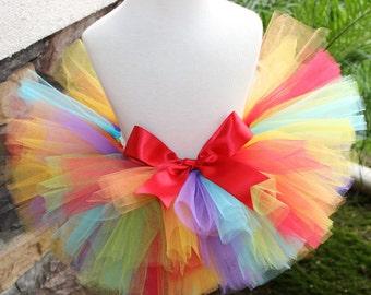 Rainbow Tutu, Rainbow Birthday Tutu, Birthday Tutu, Red Yellow Blue Green Orange Purple Tutu, Colorful Tutu, 1st Birthday Tutu, Girl Tutu