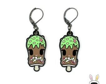 Ice Cream Bar Earrings, Ice Cream Earrings, Food Earrings, Food Jewelry, Kawaii Earrings, Kawaii Jewelry, Cute Earrings, Popsicle