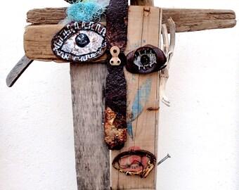 Mr Cornélius, driftwood sculpture, Upcycling design