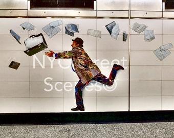 Letting Go© - New York Street Scenes - NYC Subway Art