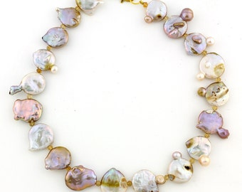 Coin Pearl Necklace KC4277
