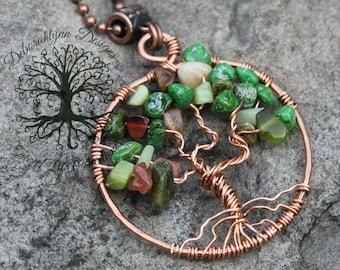 Tree Of Life Pendant, LIVE LOVE LAUGH, Tree of Life Jewelry, Wire Tree Pendant