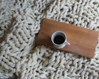 Basketweave Merino Wool Blanket