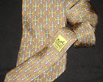 Hermes Silk Tie 627 TA Made in France HERMES