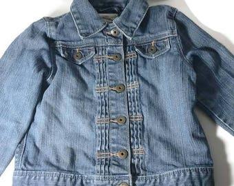 Washed Gap Jeans for Girl Denim Jacket Vintage Size 3T