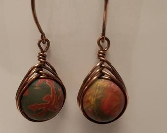 Picasso Jasper Herringbone Earrings