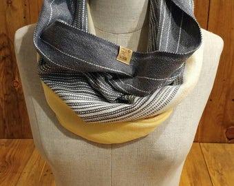 Handwoven cowl scarf 100% cotton