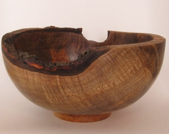 Natural edged, maple bowl.
