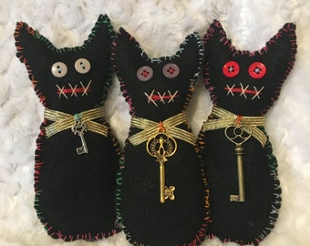 Lucky Black Cat Voodoo Doll