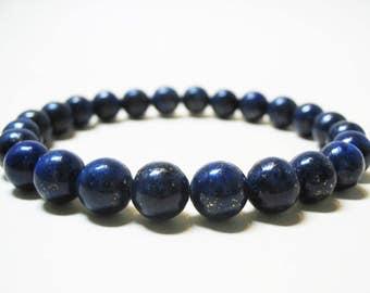Lapis Lazuli Bracelet Mens Bracelet Gemstone Bracelet Healing Bracelet Spiritual Bracelet Throat Chakra 8mm Lapis Lazuli Third Eye Chakra