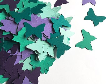 200 die cut butterfly confetti.   Girl  Birthday party confetti.   3d butterfly art.   Butterfly birthday confetti