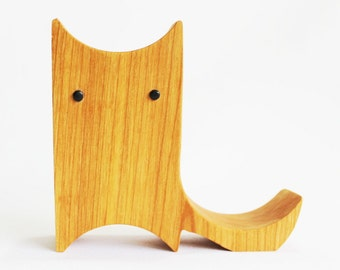 Wood Kitty Tablet or Phone Stand