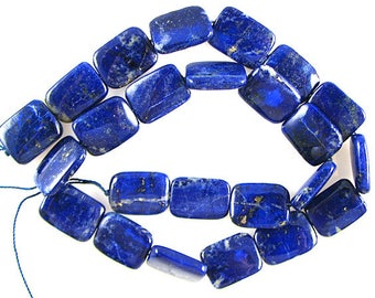 "AA+ 16mm lapis lazuli rectangle beads 16"" strand 11086"