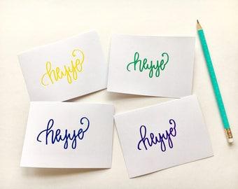 Heyyo! blank cards