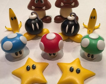 Super Mario Cake Topper Set