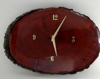 Live Edge Cherry Clock