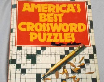 VINTAGE 1979 large print American BEST Crossword Puzzles word games booklet book 285 puzzles classic